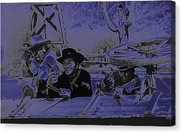 Leif Erickson Cameron Mitchell Mark Slade Attacking Apaches 3 High Chaparral Old Tucson 1969-2009 Canvas Print