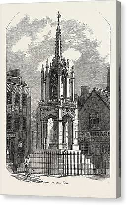Leighton Buzzard Cross, Restored, Uk Canvas Print by English School
