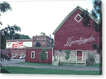 Canvas Print featuring the photograph Leinenkugel Brewery Chippewa Falls Wi by Tom Wurl