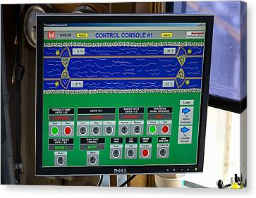 Leland Bowman Locks Controls Canvas Print