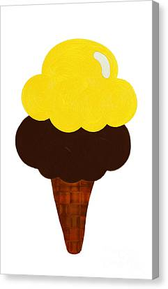 Tasting Canvas Print - Lemon And Chocolate Ice Cream by Andee Design
