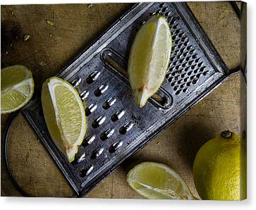 Lemon And Grater Canvas Print by Nailia Schwarz