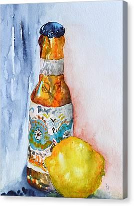 Lemon And Pilsner Canvas Print by Beverley Harper Tinsley