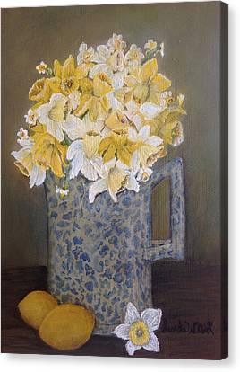 Lemon Jonquils Canvas Print