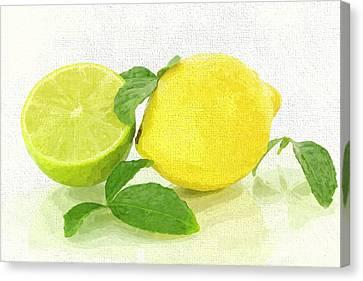 Grocery Store Canvas Print - Lemon-lime by Govindji Patel