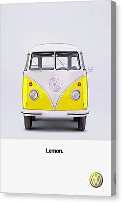 Beetle Canvas Print - Lemon by Mark Rogan