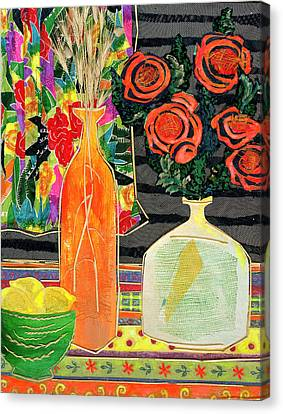 Lemon Squash And Pumpkin Canvas Print by Diane Fine