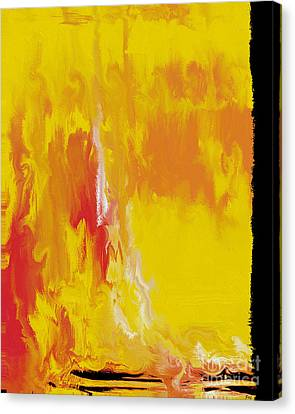 Canvas Print featuring the painting Lemon Yellow Sun by Roz Abellera Art
