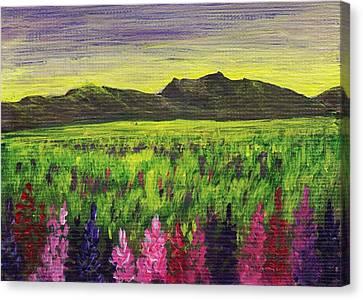 Lemon Yellow Sunset Canvas Print by Anastasiya Malakhova