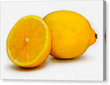 Lemons Canvas Print by David Blank