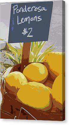 Sour Canvas Print - Lemons by Karyn Robinson