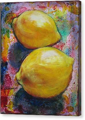 Lemons Canvas Print by Sheila Diemert