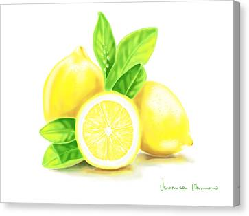 Lemons Canvas Print by Veronica Minozzi