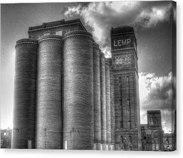 Lemp Mansion Canvas Print - Lemp Brewery Black And White by Jane Linders