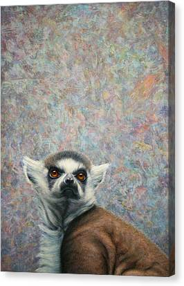 Lemur Canvas Print by James W Johnson