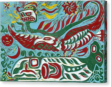 Lemuria Canvas Print by Phillip Castaldi