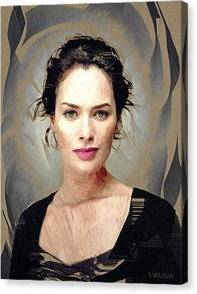 Lena Headey Canvas Print
