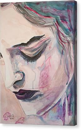 L'encre De Tes Yeux Canvas Print