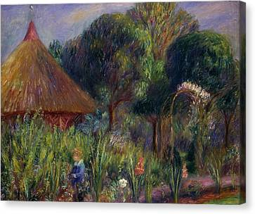 Youthful Canvas Print - Lenna By A Summer House by William James Glackens
