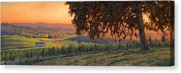 Lenne Vineyard Canvas Print by Michael Orwick