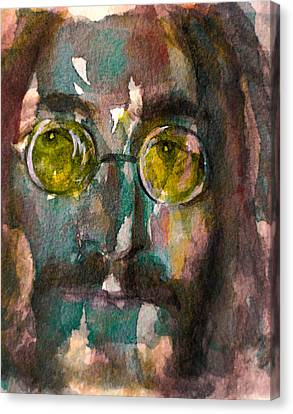 Canvas Print featuring the painting Lennon 2 by Laur Iduc