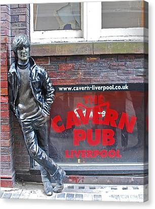 Lennon At The Cavern Canvas Print by Georgia Fowler