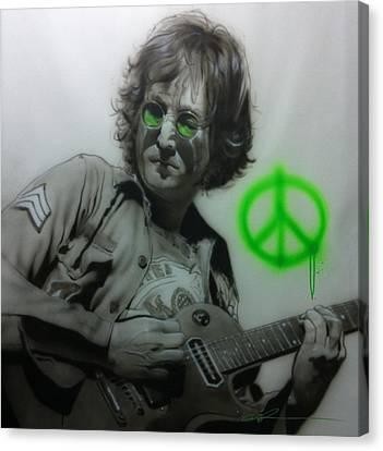 John Lennon - ' Lennon ' Canvas Print