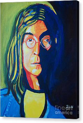 Canvas Print featuring the painting Lennon by Justin Lee Williams