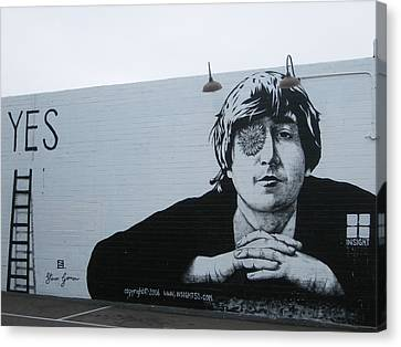 Canvas Print featuring the photograph Lennon Portrait by Nathan Rupert