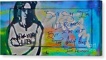 Lennon The Dreamer Canvas Print by Tony B Conscious