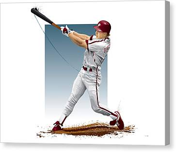 Lenny Dykstra Canvas Print by Scott Weigner