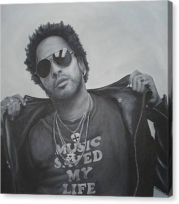 Lenny Kravitz Canvas Print by David Dunne
