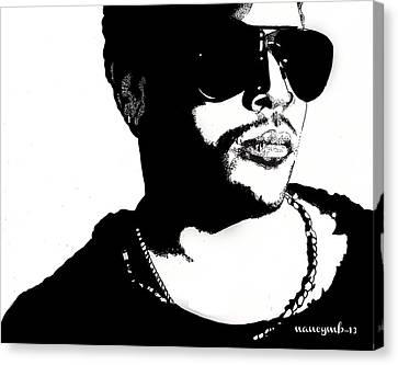 Lenny Kravitz Canvas Print by Nancy Mergybrower