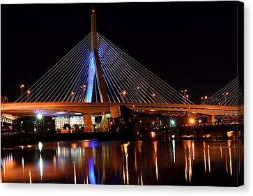 Lenny Zakim Bridge Boston Ma Canvas Print by Toby McGuire