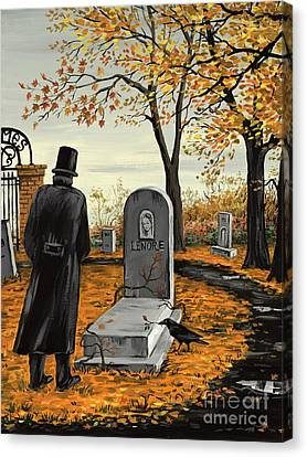 Headstones Canvas Print - Lenore Lenore by Margaryta Yermolayeva
