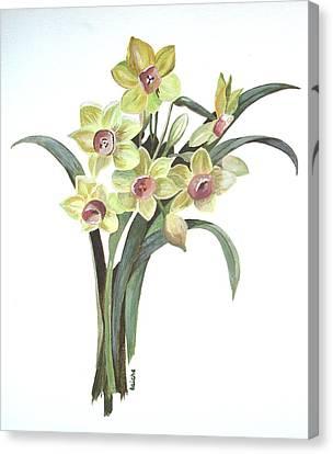 Lent Lily Canvas Print by Tracey Harrington-Simpson