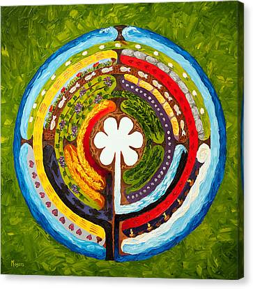 Parable Canvas Print - Lenten Labyrinth by Mike Moyers