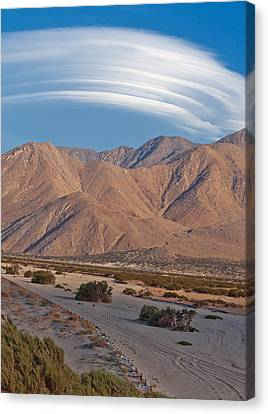 Summer Thunderstorm Canvas Print - Lenticular Cloud Over Palm Springs by Matthew Bamberg