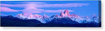 Lenticular Clouds And Pre-dawn Light Canvas Print by Panoramic Images