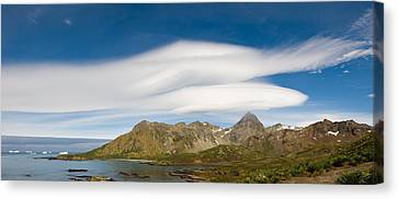 Lenticular Clouds Forming Over Cooper Canvas Print by Panoramic Images