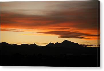 Lenticular Clouds Over Longs Peak 2 Canvas Print