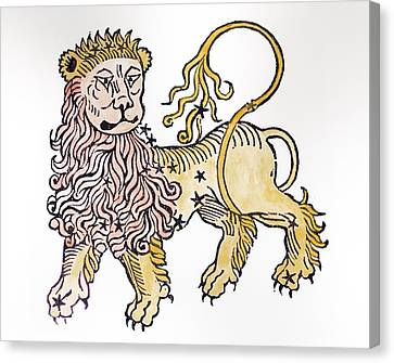 Leo An Illustration From The Poeticon Canvas Print by Italian School