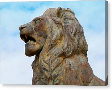 Canvas Print featuring the photograph LEO by Dick Botkin