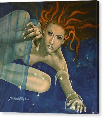 Leo From Zodiac Series Canvas Print by Dorina  Costras