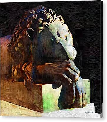 Leo Weeps Canvas Print by RC DeWinter