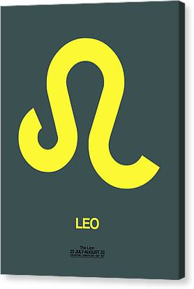 Leo Zodiac Sign Yellow Canvas Print by Naxart Studio