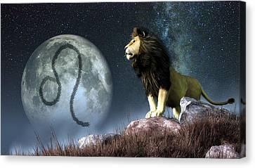 Leo Zodiac Symbol Canvas Print by Daniel Eskridge