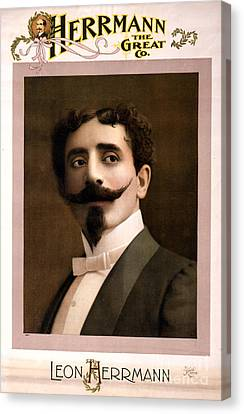 Leon Herrmann, French Magician Canvas Print by Photo Researchers