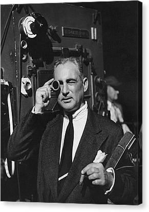 Leon Shamroy Looking Through A Lens Canvas Print by Jean Howard