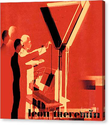 Leon Theremin Canvas Print by Jean luc Comperat